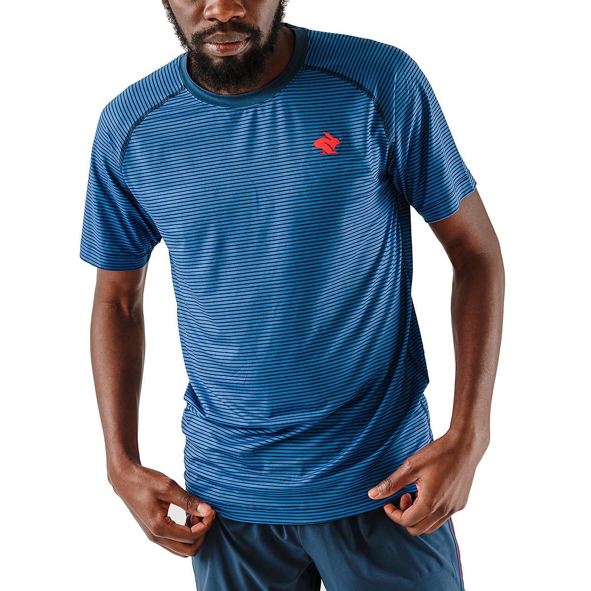 Men's Rabbit EZ Tee Short Sleeve - JackRabbit Exclusive - Color: Dress Blues/Lapis Blue - Size: S, Dress Blues/Lapis Blue, large, image 1