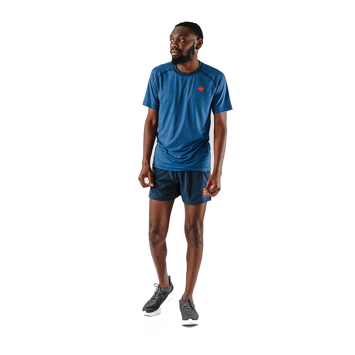 Men's Rabbit EZ Tee Short Sleeve - JackRabbit Exclusive - Color: Dress Blues/Lapis Blue - Size: S, Dress Blues/Lapis Blue, large, image 4