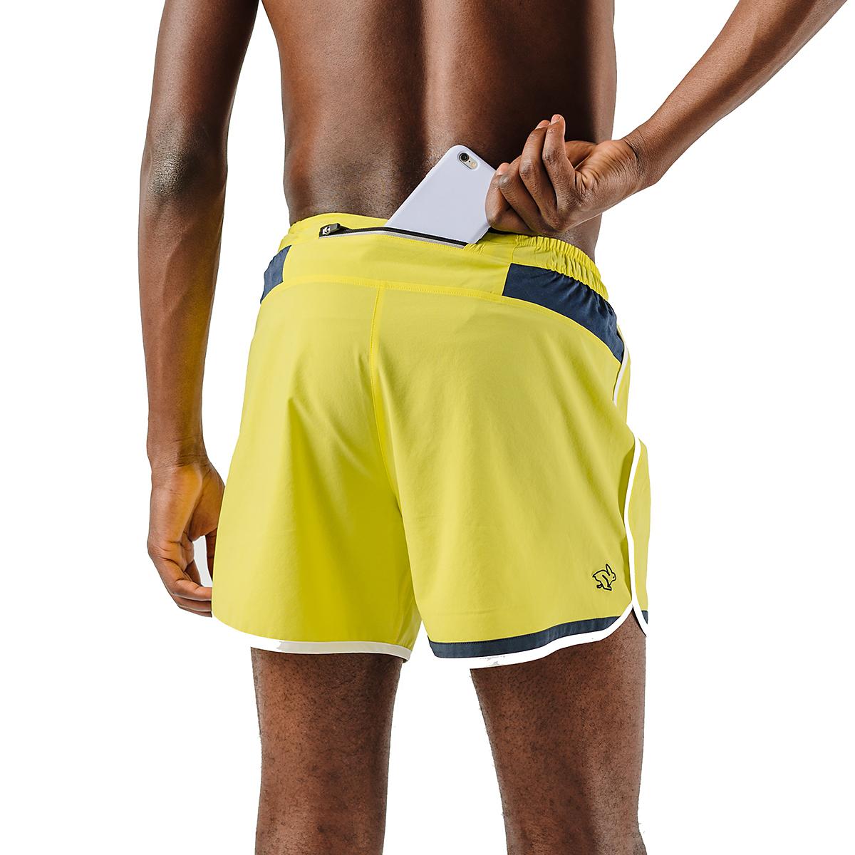 """Men's Rabbit Quadtastic 5"""" Short - Color: Lemon Tonic - Size: S, Lemon Tonic, large, image 2"""