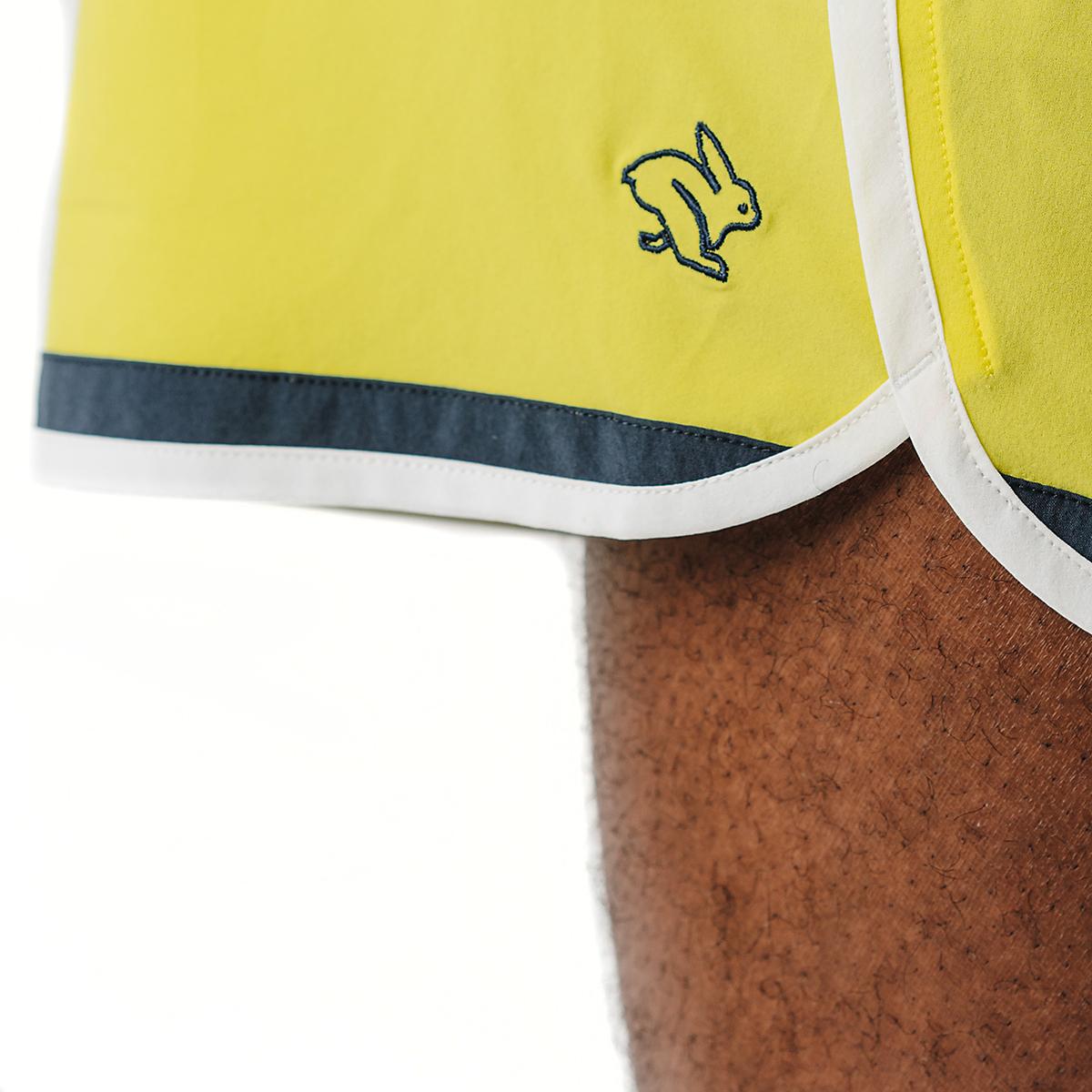 """Men's Rabbit Quadtastic 5"""" Short - Color: Lemon Tonic - Size: S, Lemon Tonic, large, image 4"""