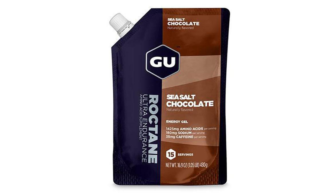 GU Roctane Energy Gel - Flavor: Sea Salt & Chocolate - Size: 15 Servings, Sea Salt and Chocolate, large, image 1