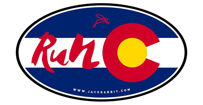 Run Colorado Sticker - Color: Colorado Size: OS, Colorado, large, image 1