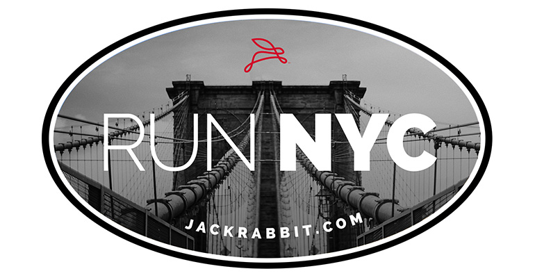 Run NYC Sticker - Color: Grey Size: OS, Grey, large, image 1