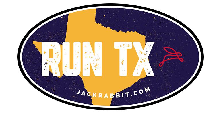 Run Texas Grunge Sticker - Color: Blue Size: OS, Blue, large, image 1