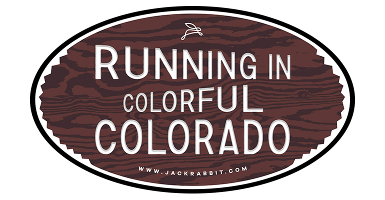 Running in Colorful Colorado Sticker - Color: Brown Size: OS, Brown, large, image 1