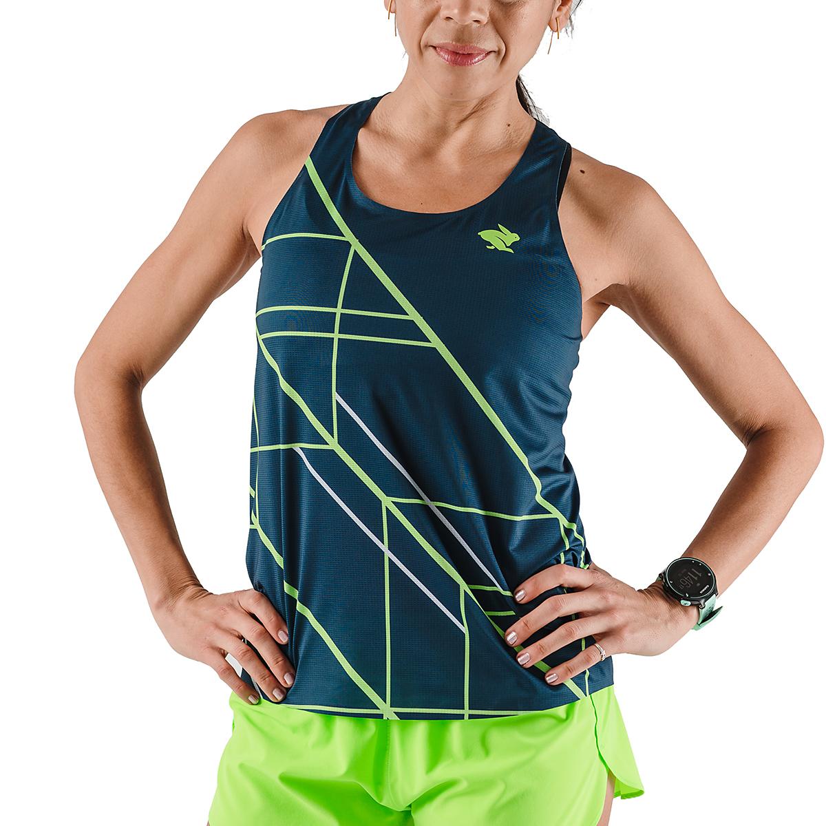 Women's Rabbit Speedeez Singlet - Color: Dress Blues/Green Gecko - Size: XS, Dress Blues/Green Gecko, large, image 1