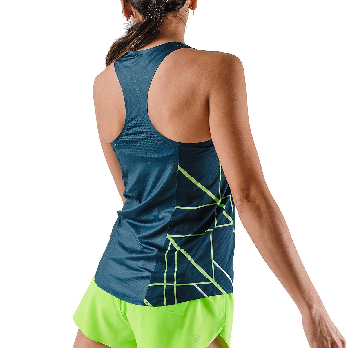Women's Rabbit Speedeez Singlet - Color: Dress Blues/Green Gecko - Size: XS, Dress Blues/Green Gecko, large, image 2