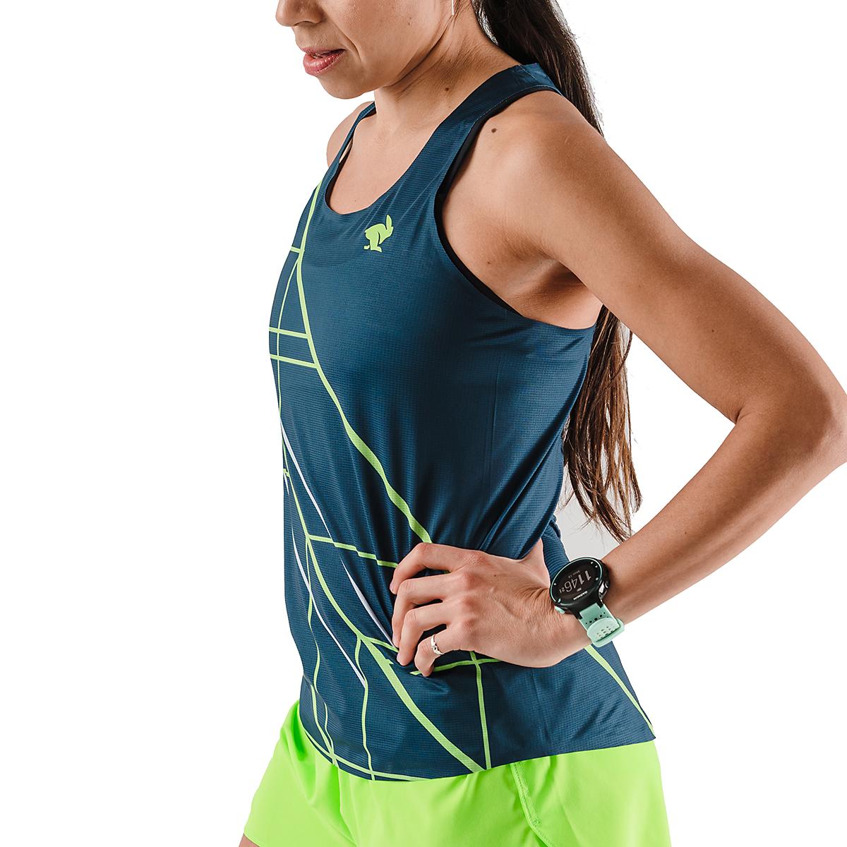 Women's Rabbit Speedeez Singlet - Color: Dress Blues/Green Gecko - Size: XS, Dress Blues/Green Gecko, large, image 3
