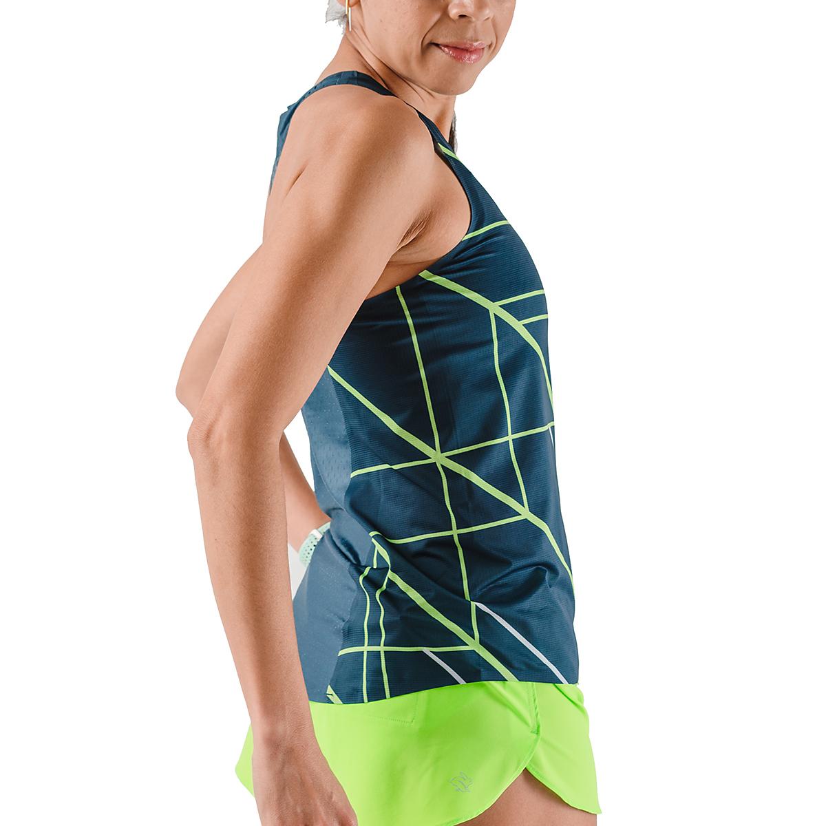 Women's Rabbit Speedeez Singlet - Color: Dress Blues/Green Gecko - Size: XS, Dress Blues/Green Gecko, large, image 4