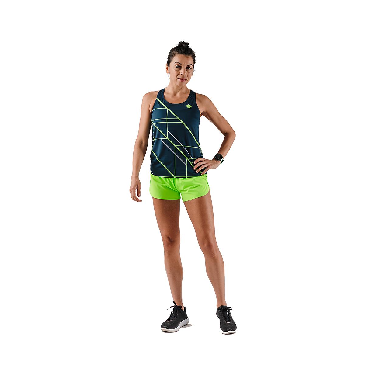 Women's Rabbit Speedeez Singlet - Color: Dress Blues/Green Gecko - Size: XS, Dress Blues/Green Gecko, large, image 5
