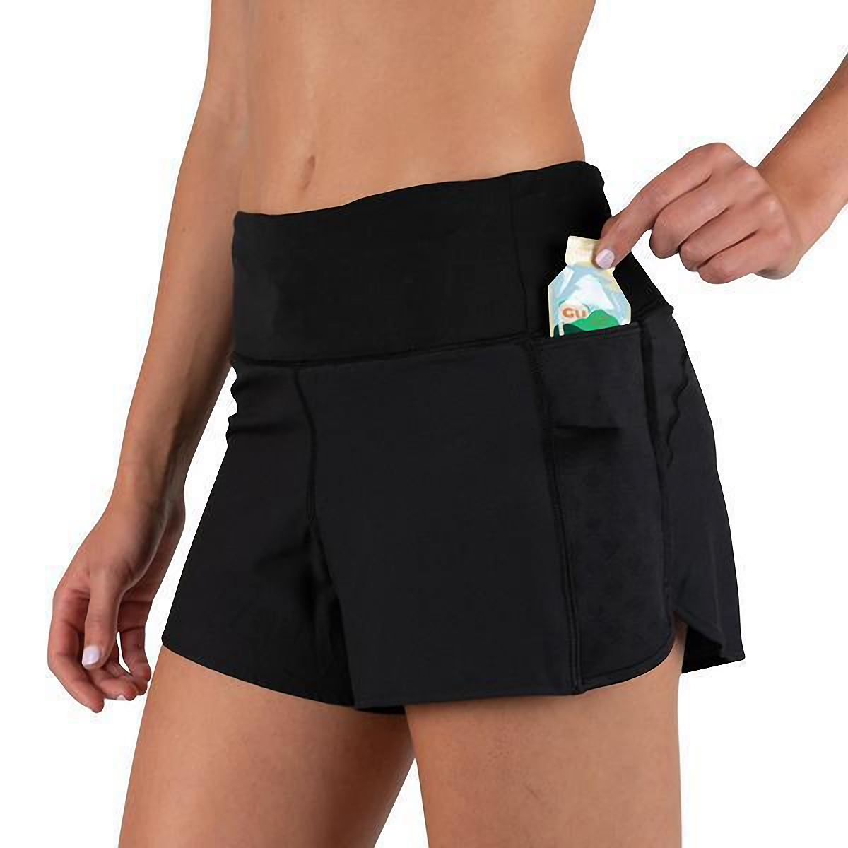 "Women's Rabbit Dirt Pounders 2.0 4"" Short - Color: Black - Size: XS, Black, large, image 4"