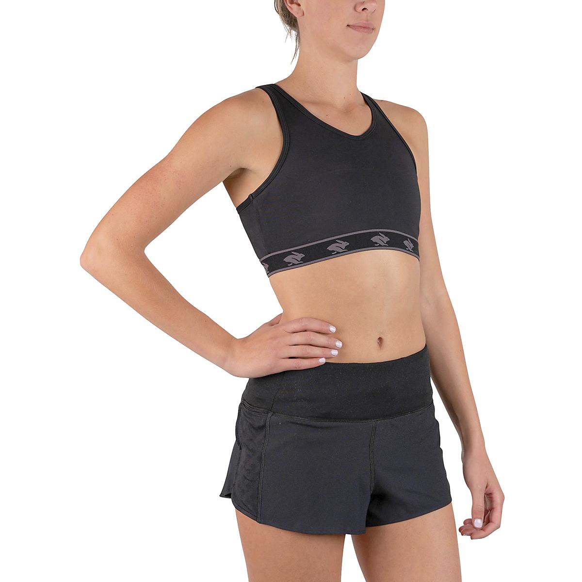 Women's Rabbit UtiliBRA-vo Sports Bra - Color: Black - Size: XS, Black, large, image 3