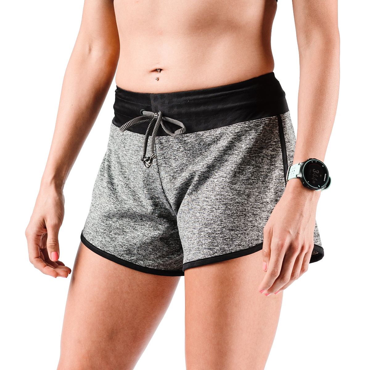 "Women's Rabbit EZ 4"" Short - Color: Charcoal - Size: XS, Charcoal, large, image 1"