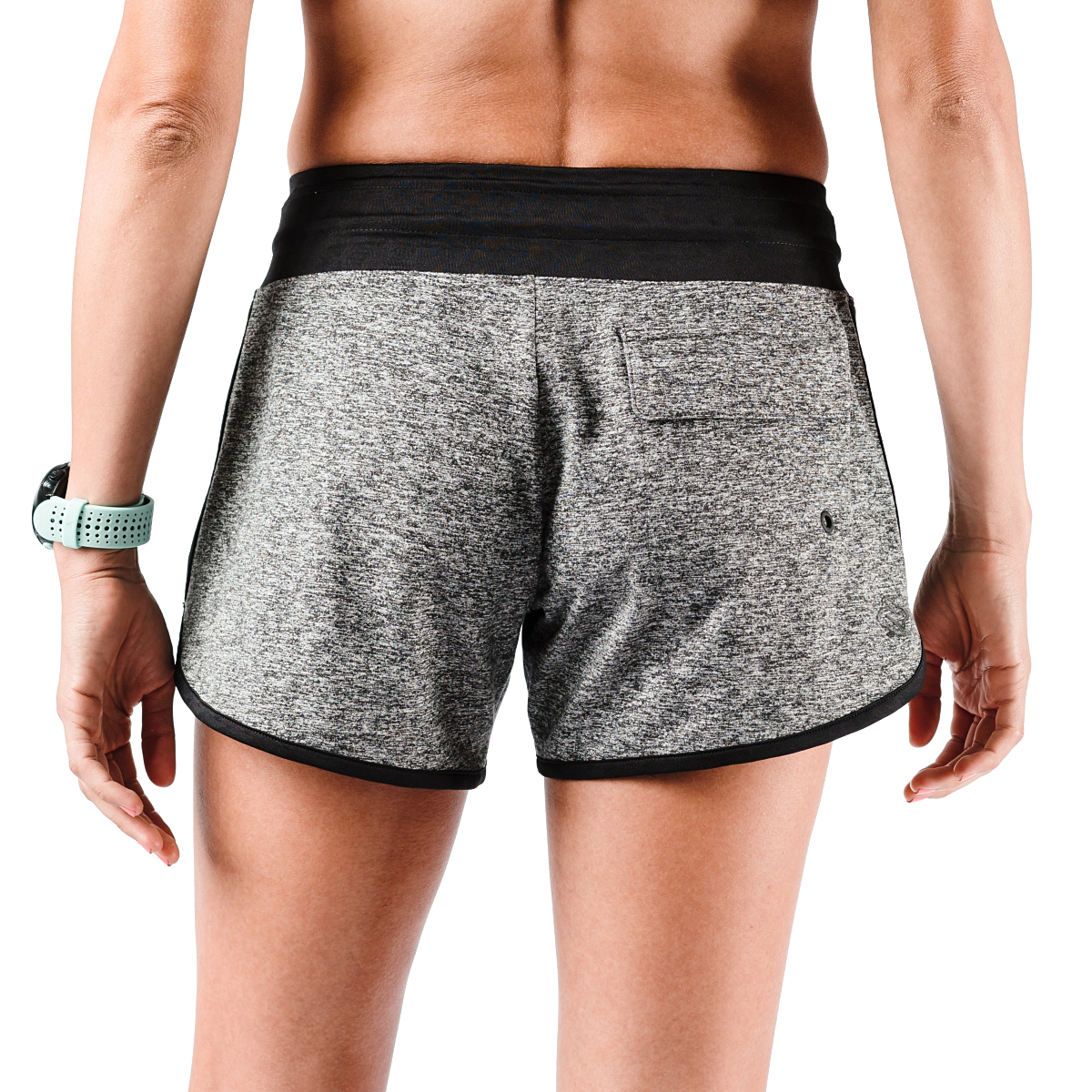 "Women's Rabbit EZ 4"" Short - Color: Charcoal - Size: XS, Charcoal, large, image 4"