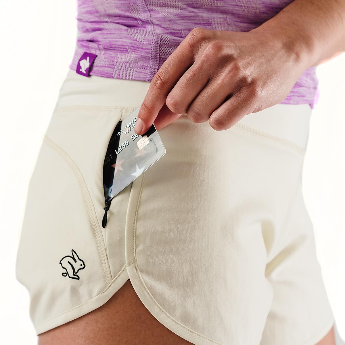 "Women's Rabbit Pocket Shorts 2.5"" - Color: Vanilla Ice - Size: XS, Vanilla Ice, large, image 5"