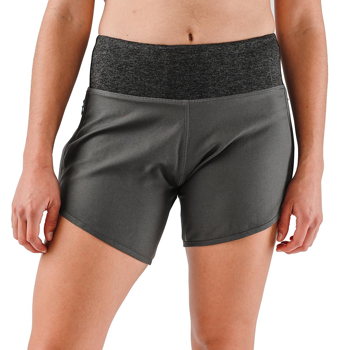 "Women's Rabbit Pocket 6"" Shorts - Color: Charcoal - Size: XS, Charcoal, large, image 1"