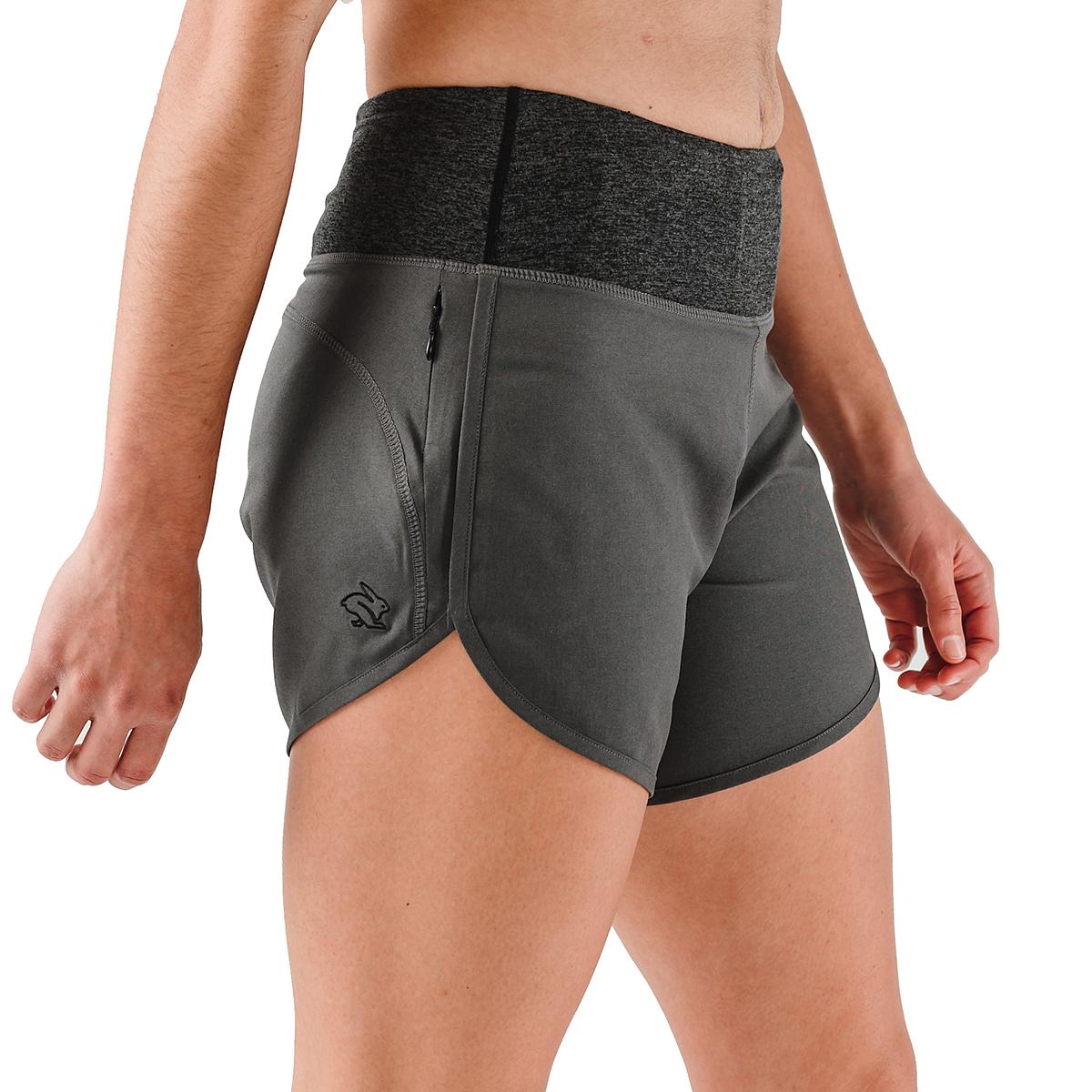 "Women's Rabbit Pocket 6"" Shorts - Color: Charcoal - Size: XS, Charcoal, large, image 2"