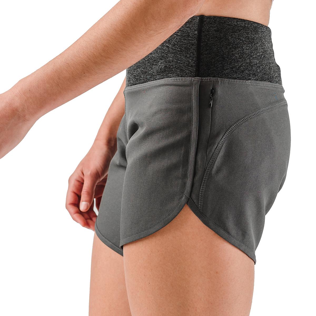 "Women's Rabbit Pocket 6"" Shorts - Color: Charcoal - Size: XS, Charcoal, large, image 3"