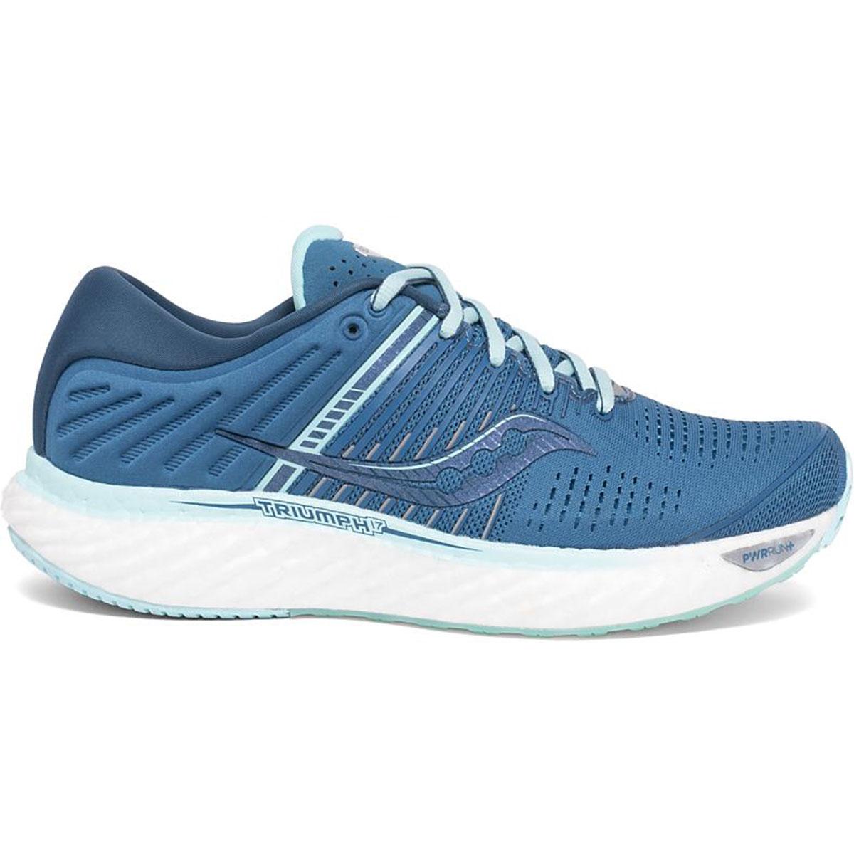 Women's Saucony Triumph 17 Running Shoe - Color: Blue/Aqua - Size: 5 - Width: Regular, Blue/Aqua, large, image 1