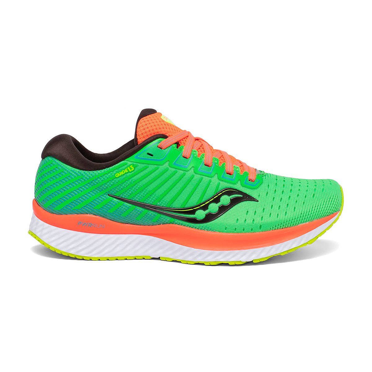Women's Saucony Guide 13 Running Shoe - Color: Green Mutant - Size: 5 - Width: Regular, Green Mutant, large, image 1