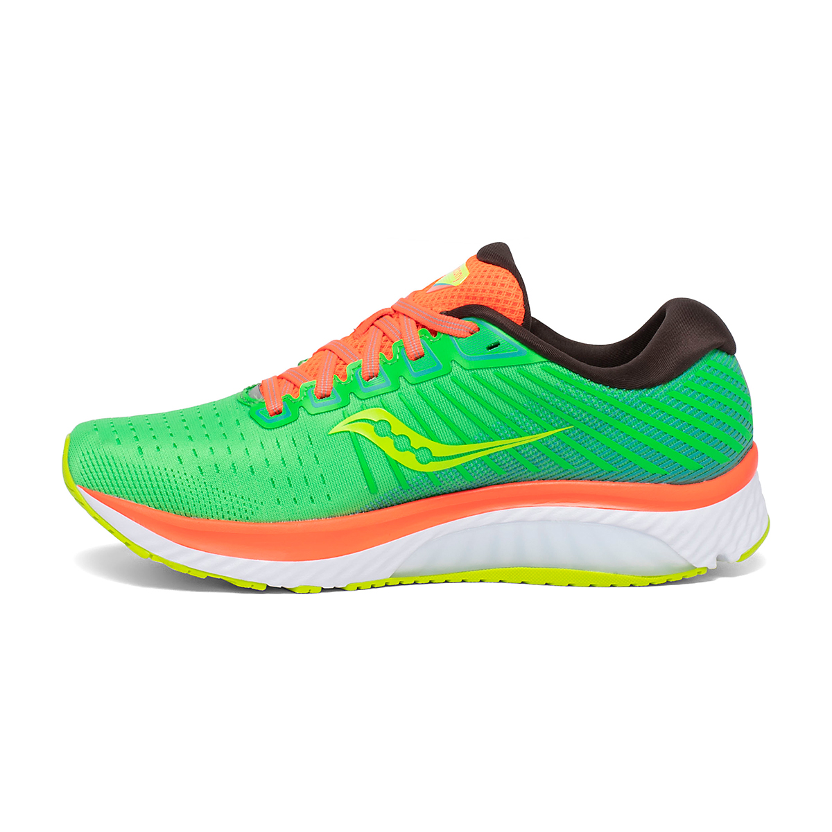 Women's Saucony Guide 13 Running Shoe - Color: Green Mutant - Size: 5 - Width: Regular, Green Mutant, large, image 2