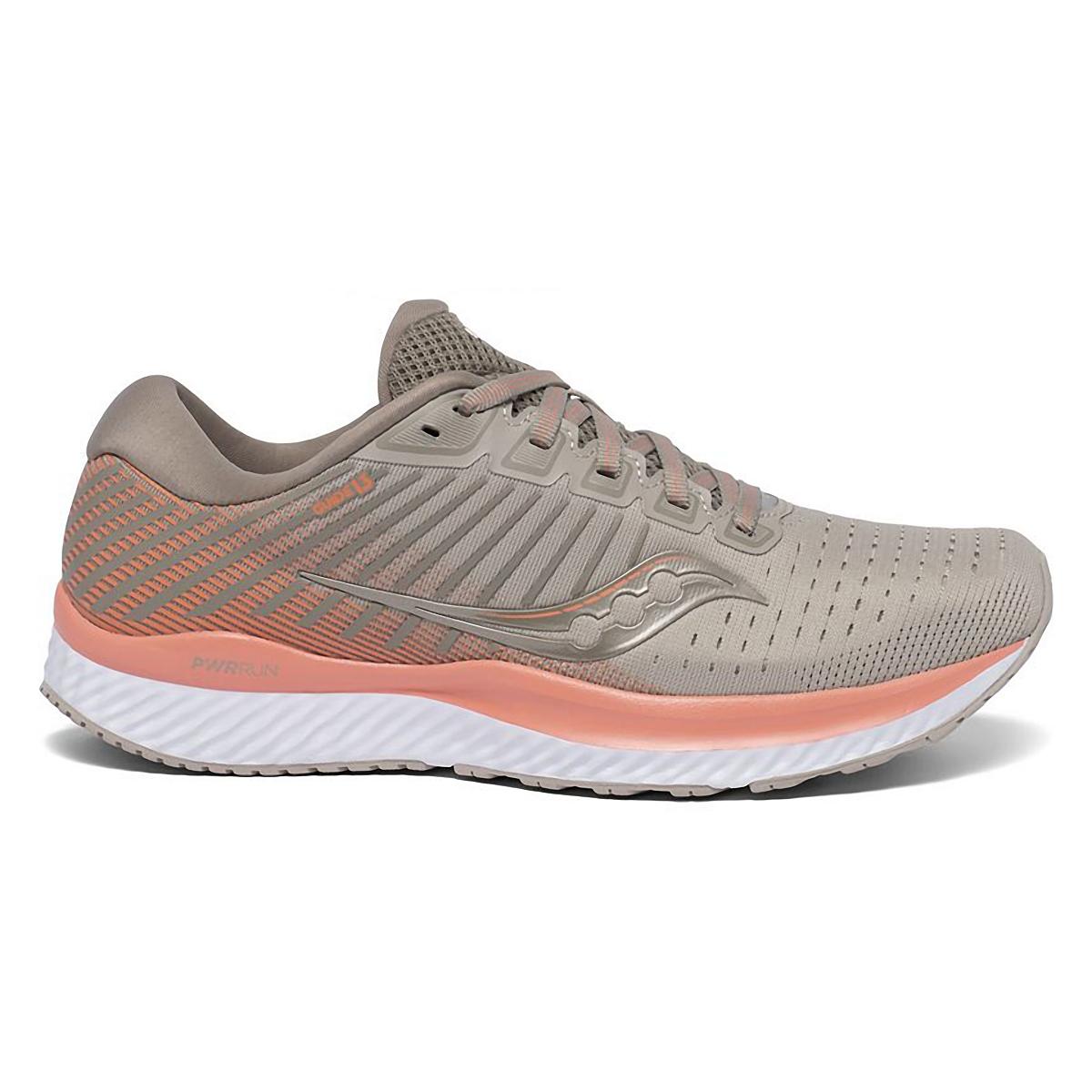 Women's Saucony Gude 13 Running Shoe - Color: Moonrock/Coral - Size: 5 - Width: Regular, Moonrock/Coral, large, image 1