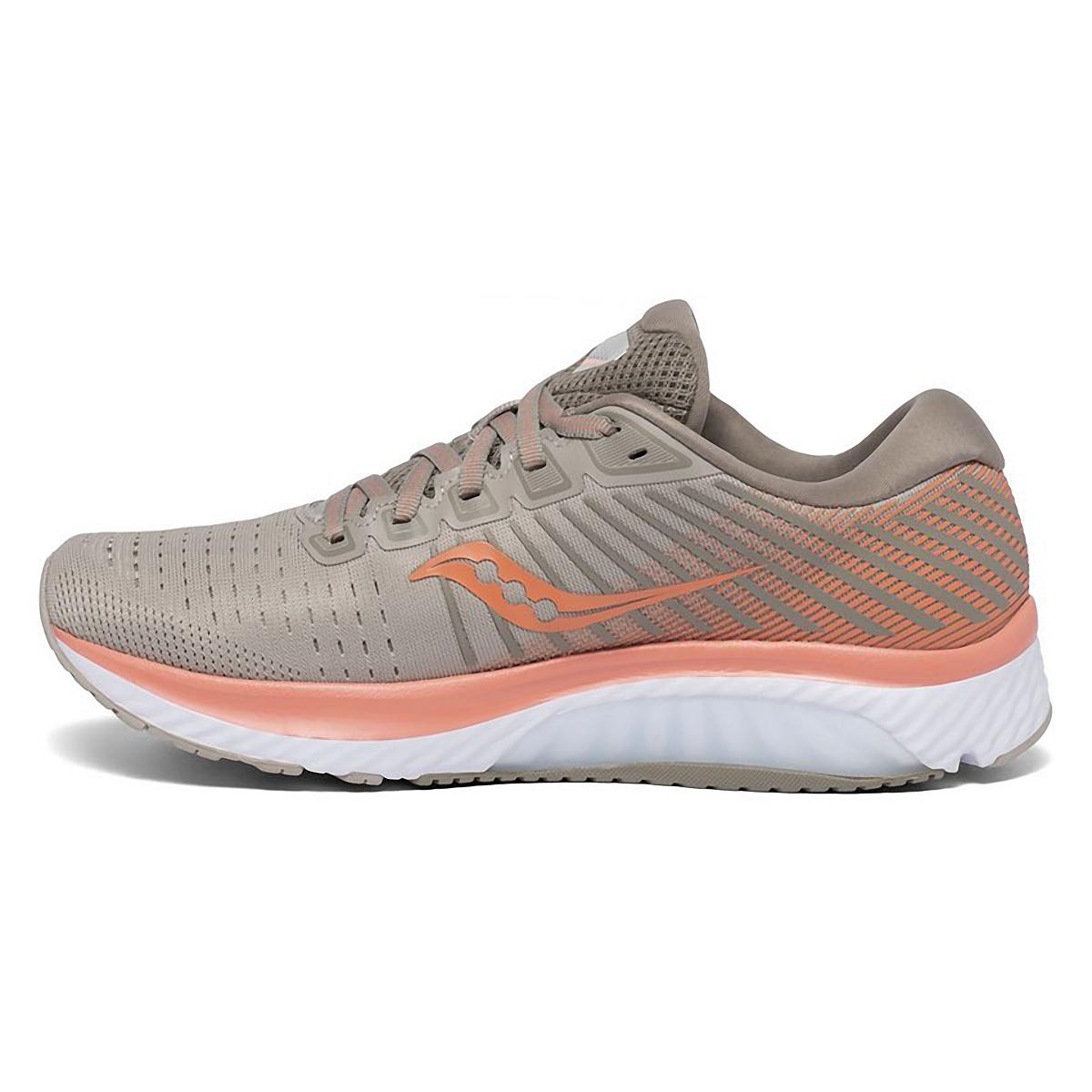 Women's Saucony Gude 13 Running Shoe - Color: Moonrock/Coral - Size: 5 - Width: Regular, Moonrock/Coral, large, image 2