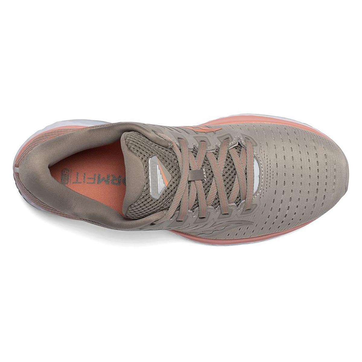 Women's Saucony Gude 13 Running Shoe - Color: Moonrock/Coral - Size: 5 - Width: Regular, Moonrock/Coral, large, image 3