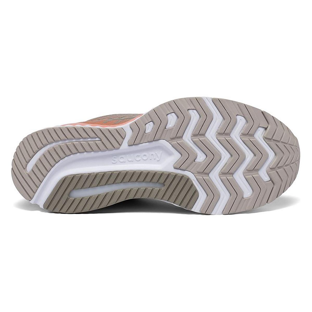 Women's Saucony Gude 13 Running Shoe - Color: Moonrock/Coral - Size: 5 - Width: Regular, Moonrock/Coral, large, image 4