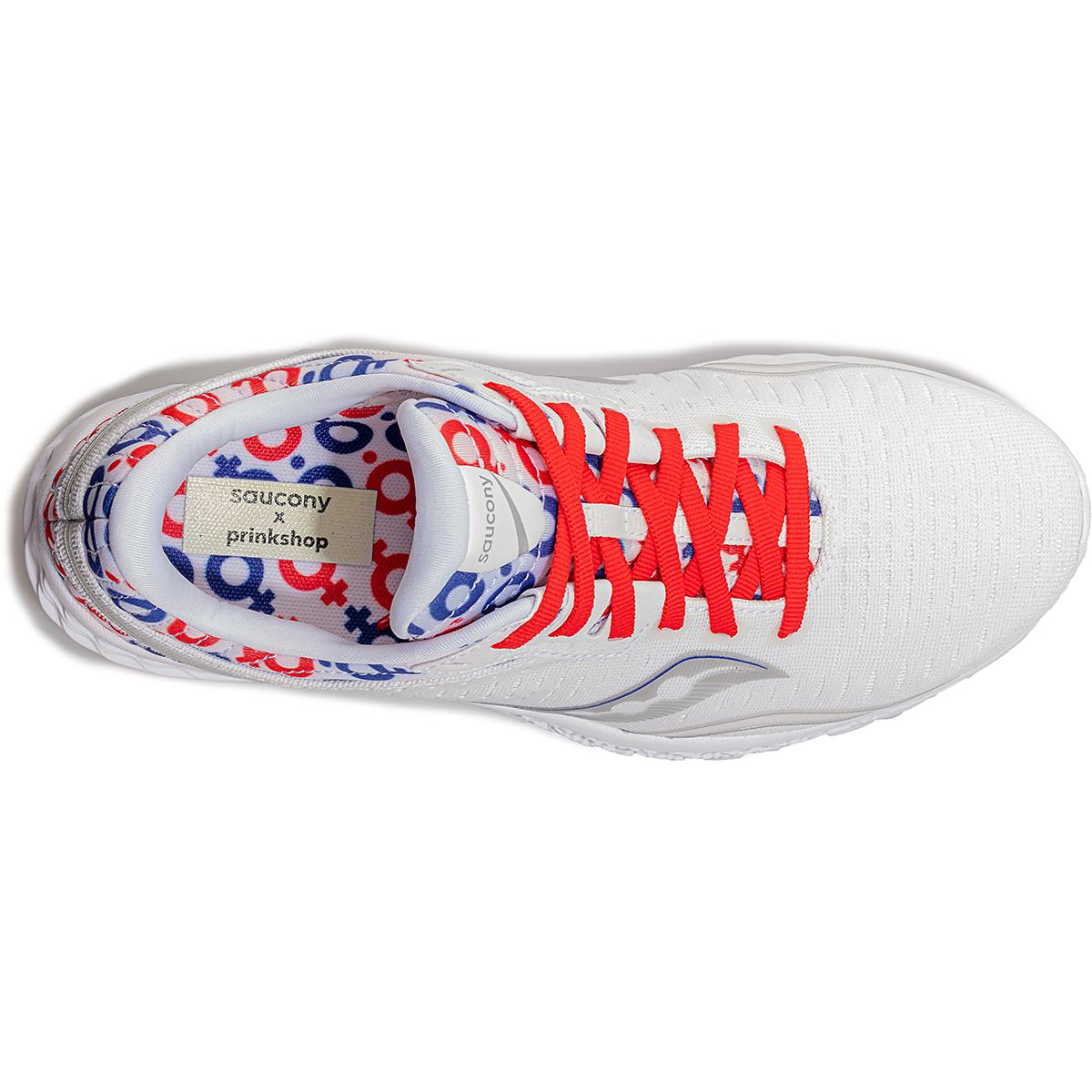 Women's Saucony x Prinkshop Hero Kinvara 11 Running Shoe - Color: Red/White/Blue - Size: 5 - Width: Regular, Red/White/Blue, large, image 3