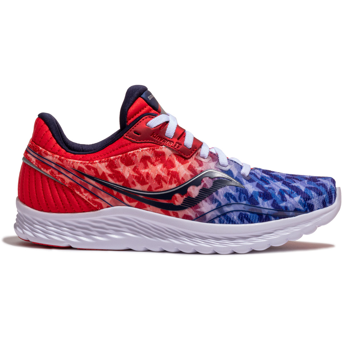 Women's Saucony Kinvara 11 Running Shoe - Color: Red/White/Blue - Size: 5 - Width: Regular, Red/White/Blue, large, image 1
