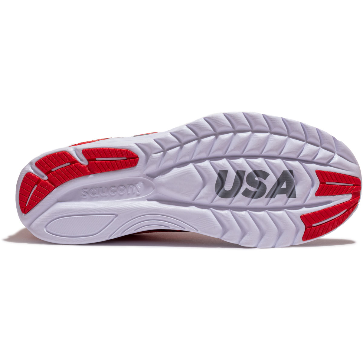 Women's Saucony Kinvara 11 Running Shoe - Color: Red/White/Blue - Size: 5 - Width: Regular, Red/White/Blue, large, image 3