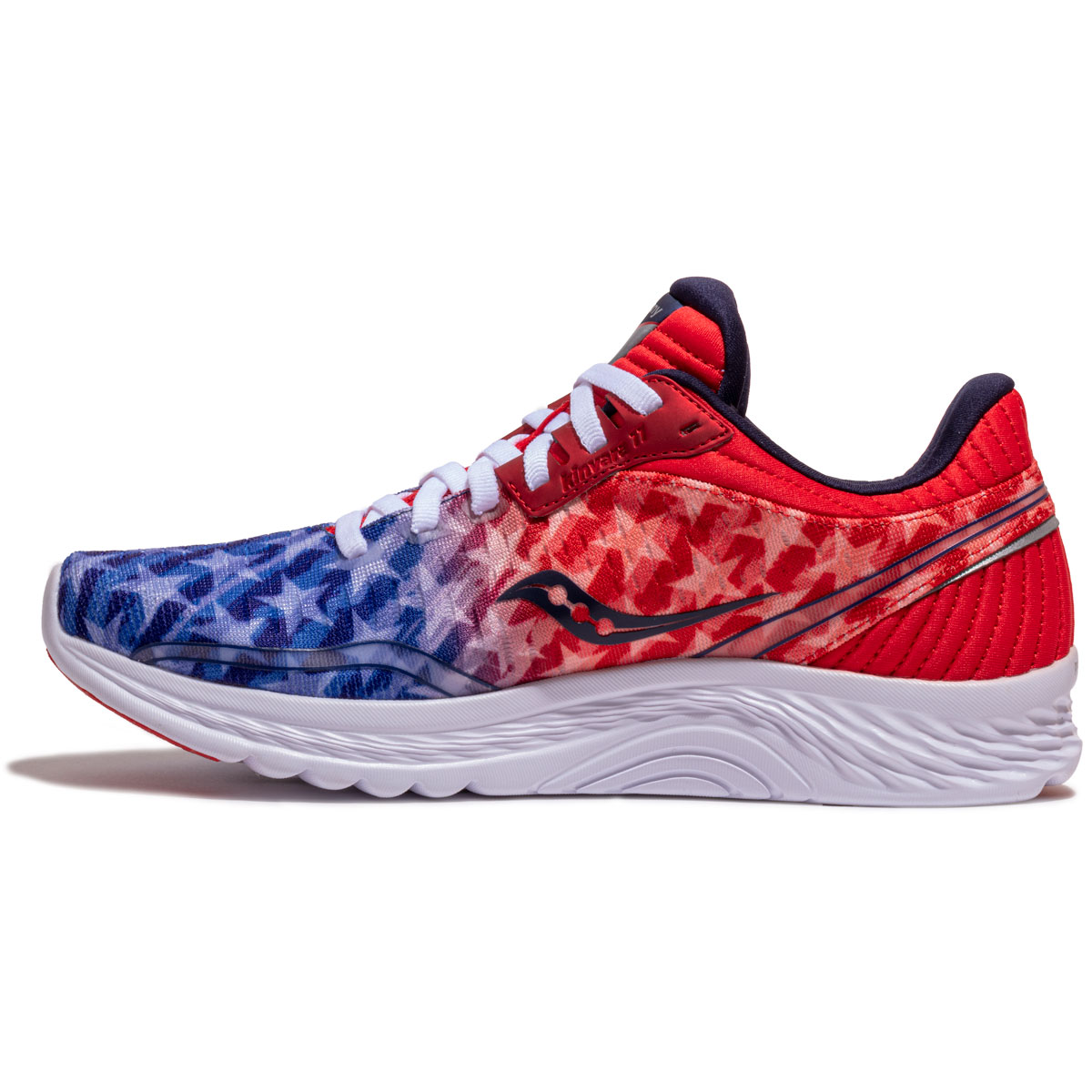 Women's Saucony Kinvara 11 Running Shoe - Color: Red/White/Blue - Size: 5 - Width: Regular, Red/White/Blue, large, image 4