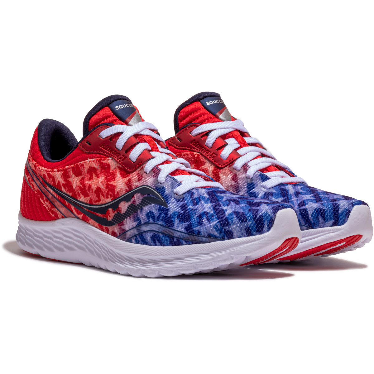 Women's Saucony Kinvara 11 Running Shoe - Color: Red/White/Blue - Size: 5 - Width: Regular, Red/White/Blue, large, image 5