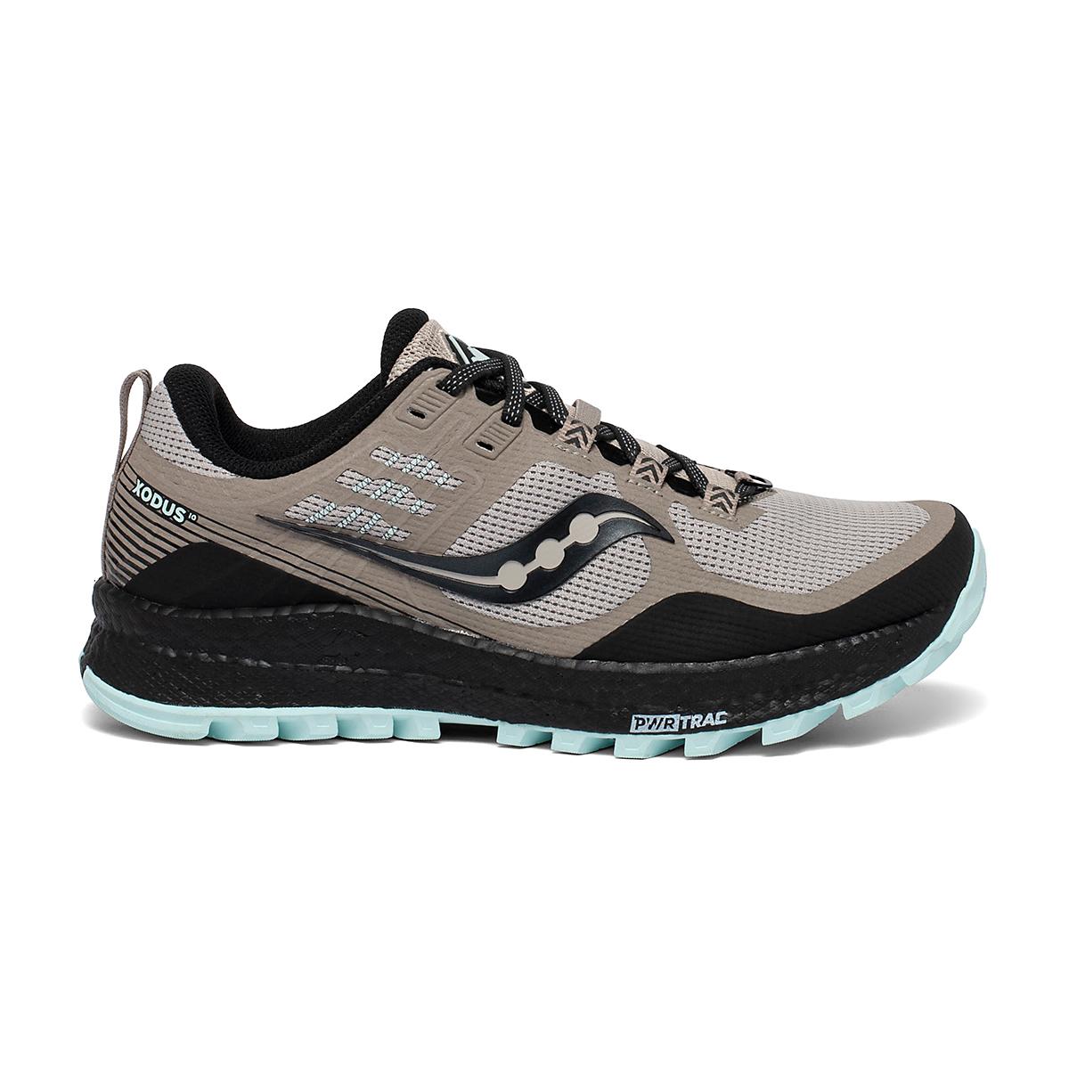 Women's Saucony Xodus 10 Trail Running Shoe - Color: Moonrock/Black - Size: 5 - Width: Regular, Moonrock/Black, large, image 1