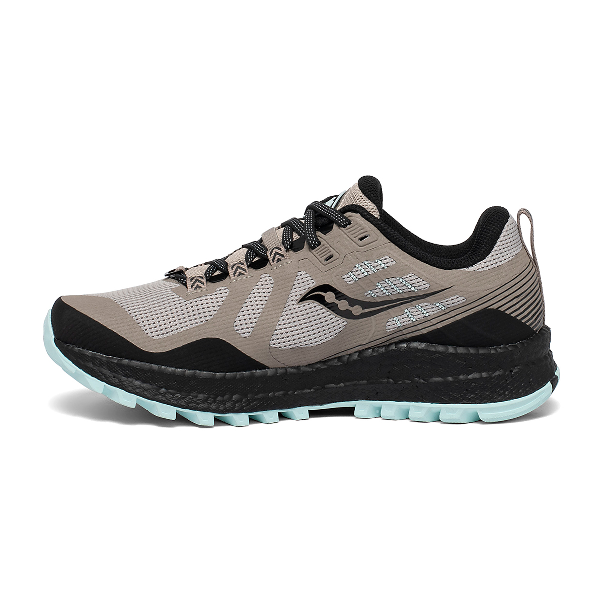 Women's Saucony Xodus 10 Trail Running Shoe - Color: Moonrock/Black - Size: 5 - Width: Regular, Moonrock/Black, large, image 2