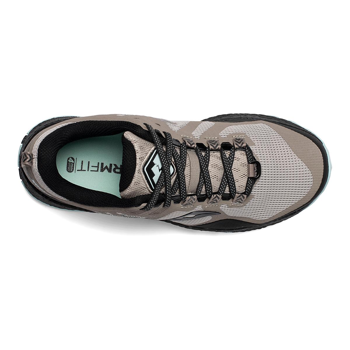 Women's Saucony Xodus 10 Trail Running Shoe - Color: Moonrock/Black - Size: 5 - Width: Regular, Moonrock/Black, large, image 3