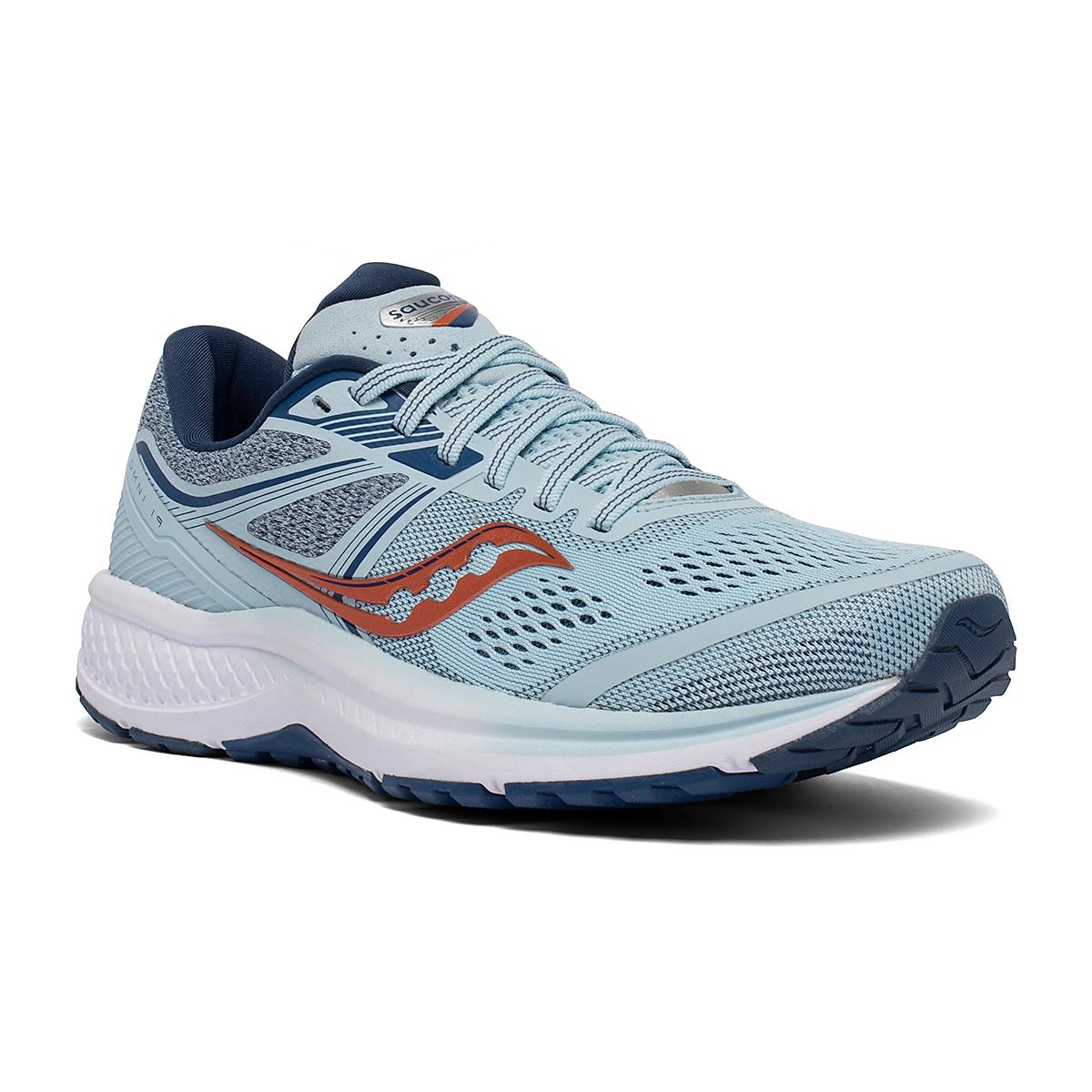 Women's Saucony Omni 19 Running Shoe - Color: Sky/Storm - Size: 5 - Width: Regular, Sky/Storm, large, image 3