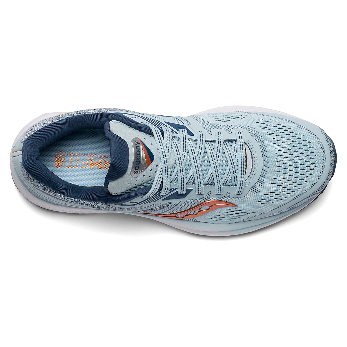 Women's Saucony Omni 19 Running Shoe - Color: Sky/Storm - Size: 5 - Width: Regular, Sky/Storm, large, image 4