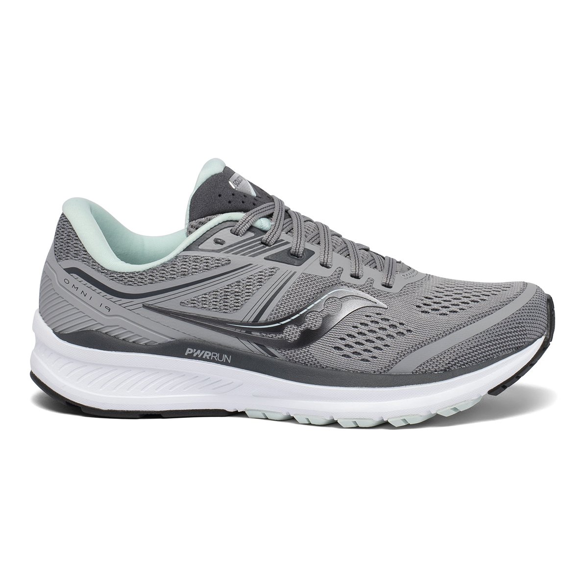 Women's Saucony Omni 19 Running Shoe - Color: White Mutant - Size: 5 - Width: Wide, White Mutant, large, image 1