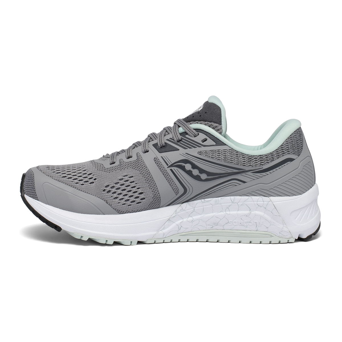 Women's Saucony Omni 19 Running Shoe - Color: White Mutant - Size: 5 - Width: Wide, White Mutant, large, image 2