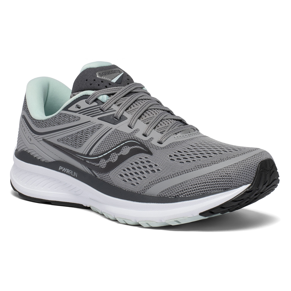 Women's Saucony Omni 19 Running Shoe - Color: White Mutant - Size: 5 - Width: Wide, White Mutant, large, image 5
