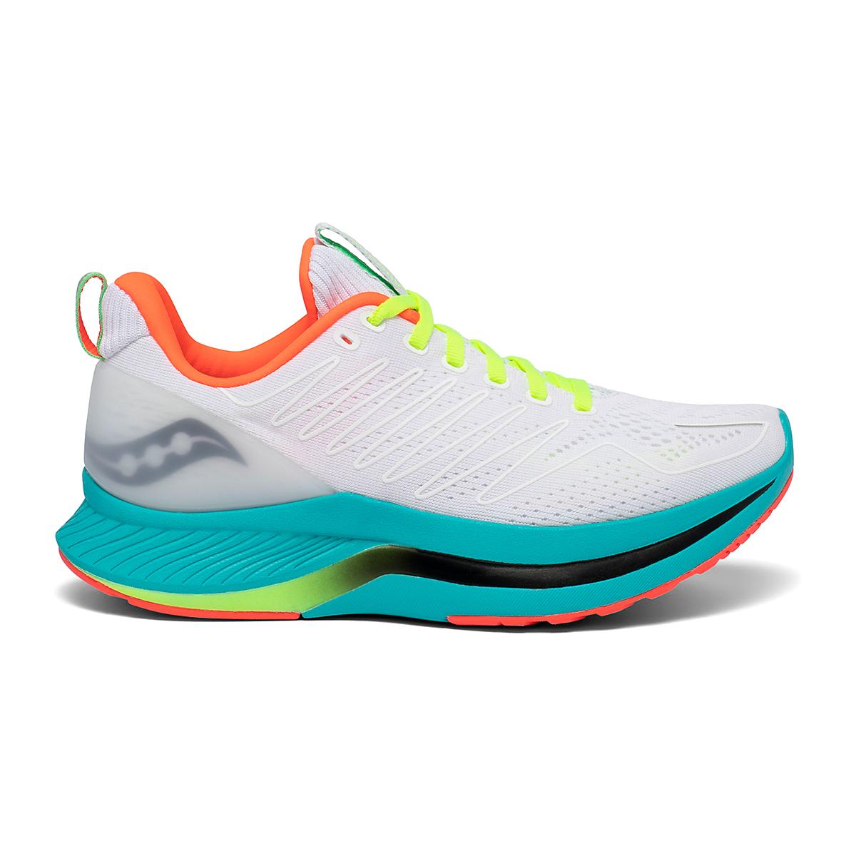Women's Saucony Endorphin Shift Running Shoe - Color: White Mutant - Size: 5 - Width: Regular, White Mutant, large, image 1