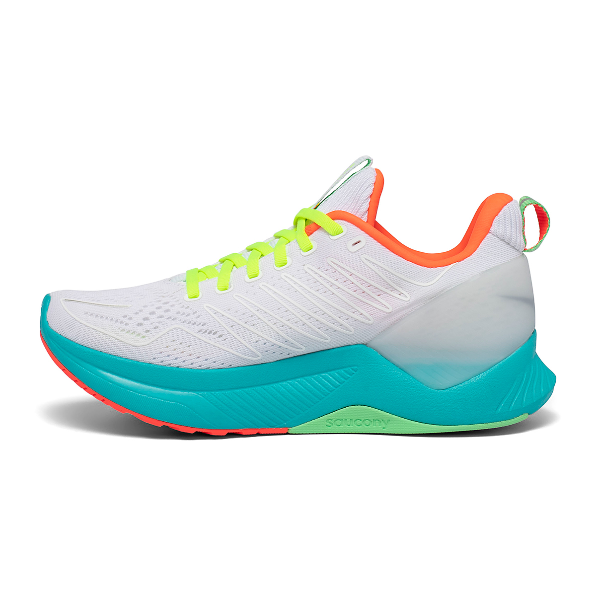 Women's Saucony Endorphin Shift Running Shoe - Color: White Mutant - Size: 5 - Width: Regular, White Mutant, large, image 2