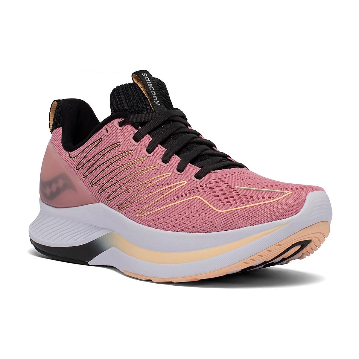 Women's Saucony Endorphin Shift Running Shoe - Color: Rosewater/Black - Size: 5 - Width: Regular, Rosewater/Black, large, image 2