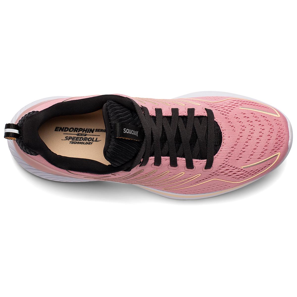 Women's Saucony Endorphin Shift Running Shoe - Color: Rosewater/Black - Size: 5 - Width: Regular, Rosewater/Black, large, image 4