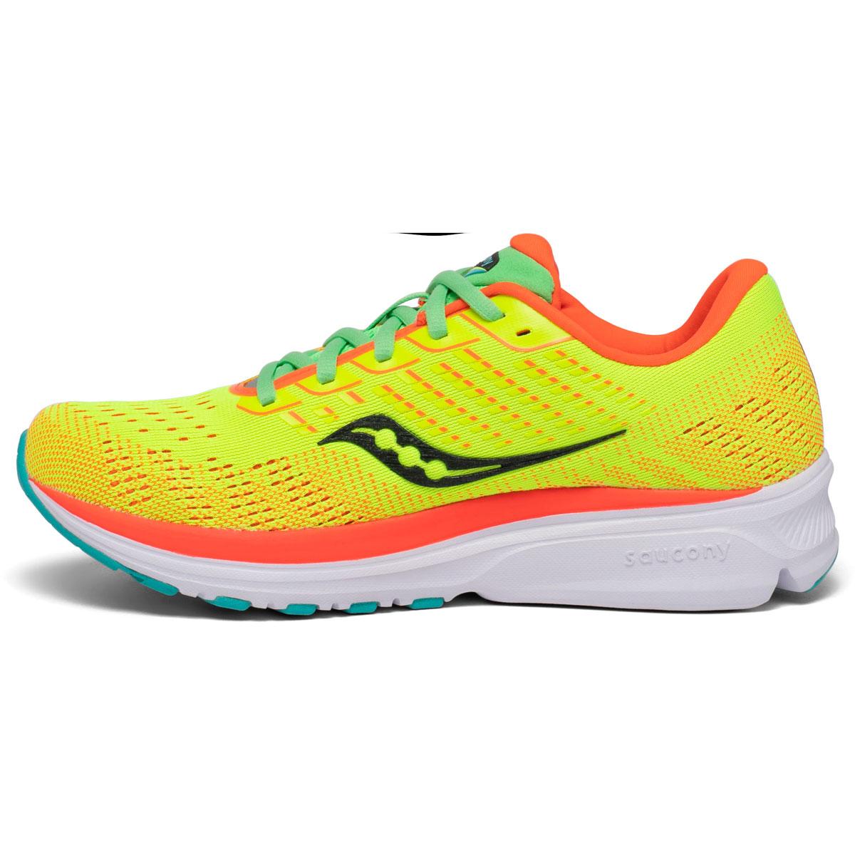 Women's Saucony Ride 13 Running Shoe - Color: Citron Mutant - Size: 5 - Width: Regular, Citron Mutant, large, image 2