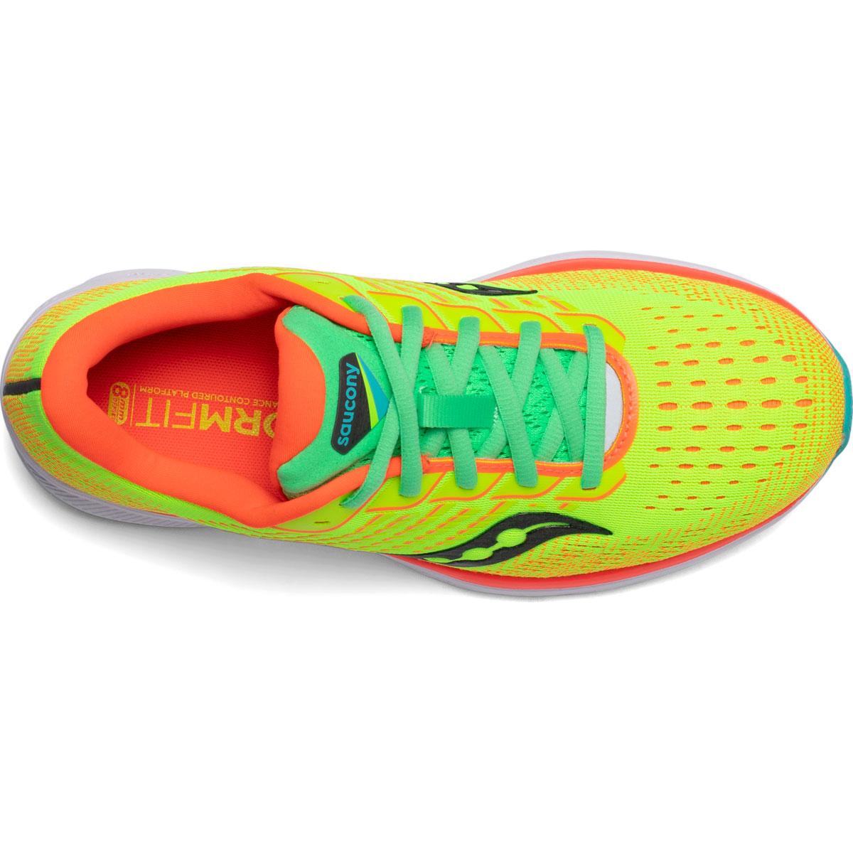 Women's Saucony Ride 13 Running Shoe - Color: Citron Mutant - Size: 5 - Width: Regular, Citron Mutant, large, image 3