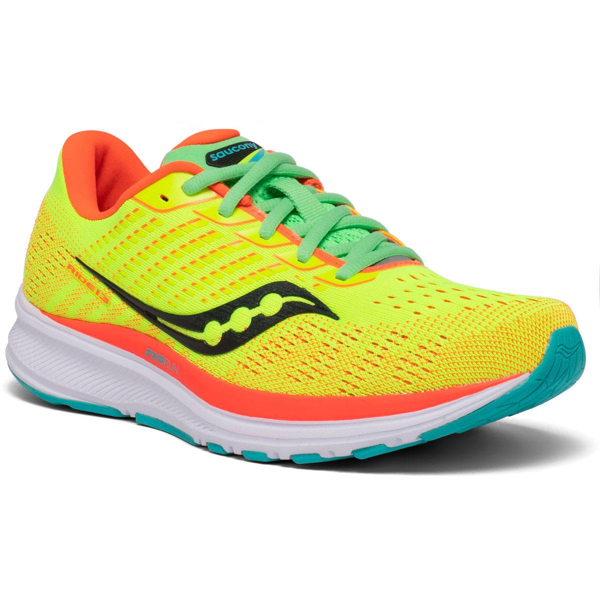 Women's Saucony Ride 13 Running Shoe - Color: Citron Mutant - Size: 5 - Width: Regular, Citron Mutant, large, image 5
