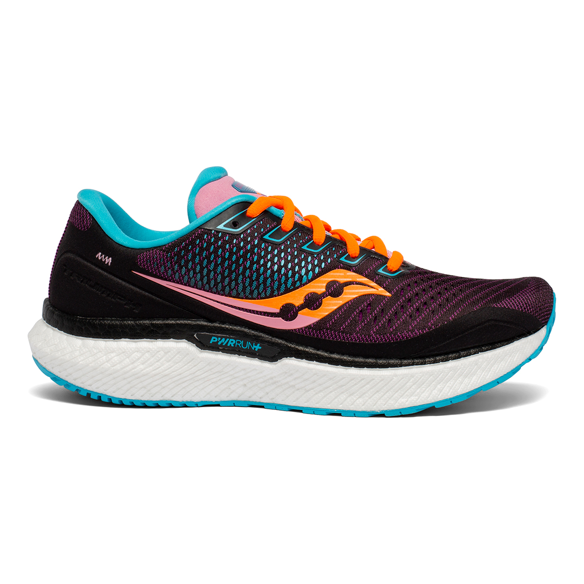 Women's Saucony Triumph 18 Running Shoe - Color: Future/Black - Size: 5 - Width: Regular, Future/Black, large, image 1